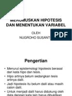 Merumuskan Hipotesis Dan Menentukan Variabel