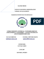 Eprocurement_Internal Customer Service and External Customers_A Study of Effects and Interdependencies