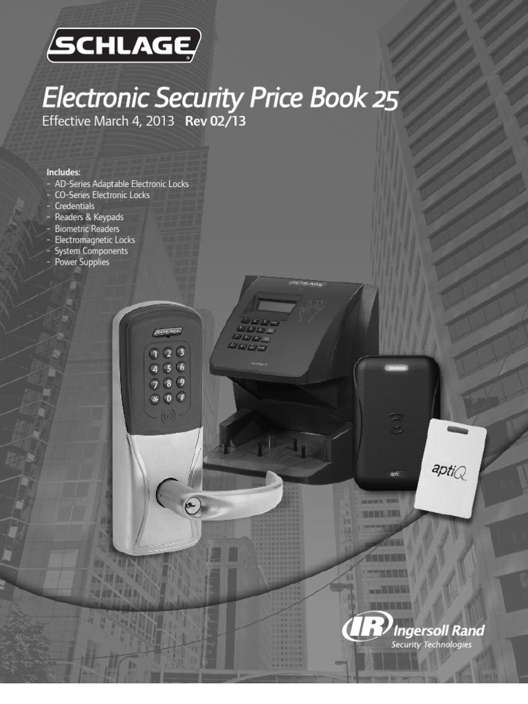 Wiring Diagram Schlage 653 0505 Electrical Diagrams Key Switch 650 Electronic Security Pb 25 2013 Indemnity Franchising