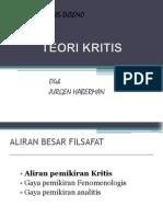 TEORI KRITIS Jurgen Habermas (Antonius Tarigan 21 10 2011)