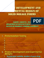 Product Development and Experimental Design of Solid Dosage Forms