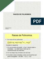 Raices de Polinomios