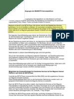 Allgemeine GeschäFtsbedingungen Der MAGNOTO Internetplattform BETA PHASE GrundsäTzliches Magnoto