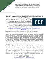 Technology Characterization of Organophilics Clay From Paraiba Bentonites