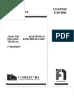 Aparatos Telefónicos - Especificaciones Técnicas