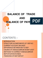 Balance of Trade and Balance of Payment