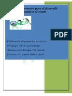 Proyecto de Desarrollo Turistico OSER