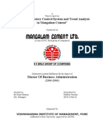 Study of Inventory Control System and Trend Analysis in Mangalam Cement, Mangalam Cement Ltd