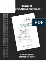 Springfield, VT 2008 Annual Town Report