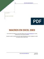 Macros en Excel 2003 [adaptado por JCarreon - español]