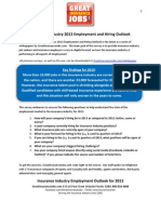 Great Insurance Jobs Insurance Industry 2013 Employment and Hiring Outlook