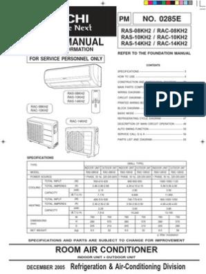 3  Hitachi RAS-10KH2 - Manual Service - lb  engleza pdf | Air