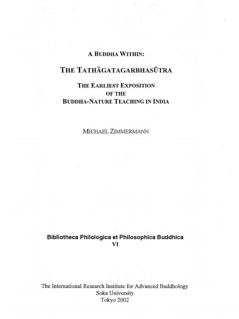A Buddha Within-Tathagatagarbhasutra | Buddha Nature | Mahayana