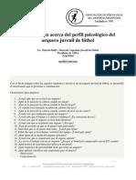 Investigacion Acerca Del Perfil Psicologico Del Arquero Juvenil de Futbol.