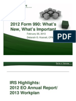 2012 IRS Form 990  Whats New - Whats Important