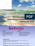 Diagnosticul Si Terapia Displaziilor Dentare de Smalt