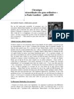 Chronique Marie-Paule Gauthier Juillet 2009