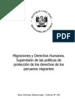 Defensoria Del Pueblo Migracion Derechos Humanos-supervicion