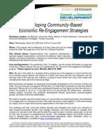 Developing Community-Based Economic Re-Engagement Strategies Workshop Leaders