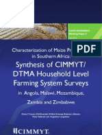 Characterization of maize production in Southern Africa