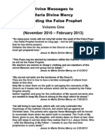 Divine Messages to Maria Divine Mercy regarding the False Prophet - Volume One (Nov 2010 - Feb 2013)