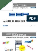 Comparación guillotina EBA-Baratas