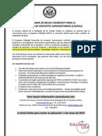 Flyer Informativo Becas Fulbright Laspau 2013 Guatemala