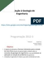 Introdução à Geologia de Engenharia aula 1
