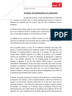 Manifiesto 8 de Marzo 2013 PSOE