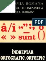 ACADEMIA ROMANA, Indreptar Ortografic, Ortoepic Si de Punctuatie [Searchable B&W 400dpi]