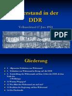 Widerstand in Der DDR