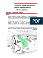 Numerical modeling of flow and pollutant dispersion in street canyons with tree planting