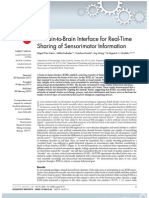 A Brain-To-Brain Interface for Real-Time Sharing of Sensorimotor Information