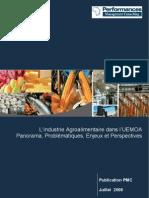 Industrie AgroAlimentaire dans UEMOA_Panorama Problématique Enjeux et Perspectives_PMC