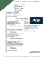 Siegel case joint status update - February 25, 2013