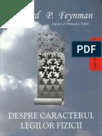 Richard P. Feynman - Despre Caracterul Legilor Fizicii [2006]