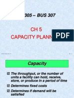 IE 305 CH 5 Capacity Planning