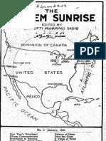 Themoslemsunrise1922 Issue 1