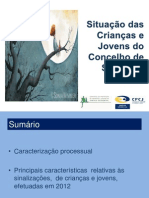 Situação das crianças e jovens do concelho de Sintra em 2012