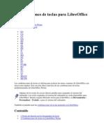 Combinaciones de Teclas Para LibreOffice Writer