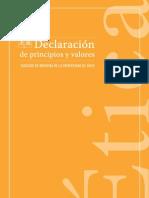 Declaración Principios y Valores Facultad de Medicina Universidad de Chile