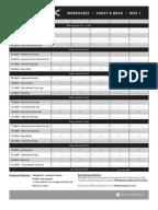 P90X Worksheets | Human Anatomy | Human Size
