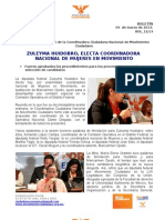 ZULEYMA HUIDOBRO, ELECTA COORDINADORA NACIONAL DE MUJERES EN MOVIMIENTO