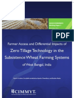 Farmer access and differential impacts of zero tillage technology in the subsistence wheat farming systems of West Bengal, India