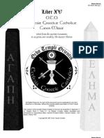 XV Sabazius Gnostic Mass