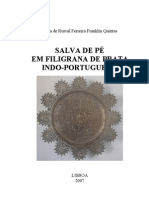 Salva de Pé em Filigrana de Prata Indo-Portuguesa