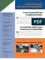 Land Use Plannung for Safe Crime-free Neighborhoods
