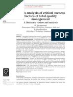 1.Pareto Analysis of Critical Success