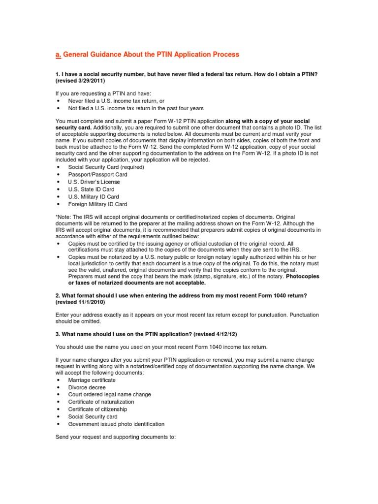 PTIN 问题 | Notary Public | Identity Document