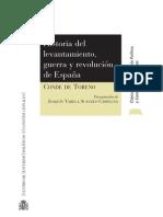 Conde de Toreno. Historia del levantamiento guerra y revolucion de España